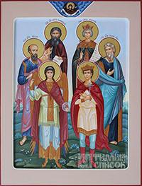 Павел, Михаил, Сергий, Екатерина, Андрей, Димитрий